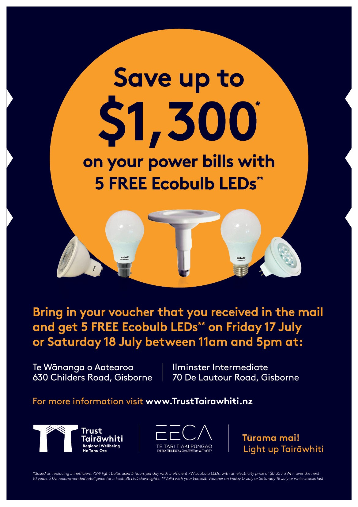 FREE Ecobulb LED Lightbulbs